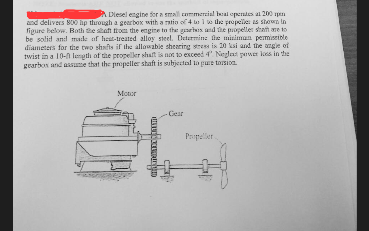 Solved: A Diesel Engine For A Small Commercial Boat Operat