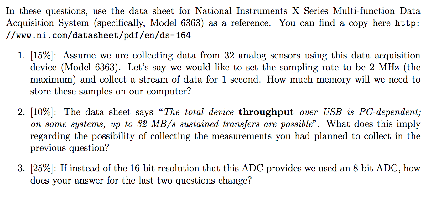 Solved: In These Questions, Use The Data Sheet For Nationa