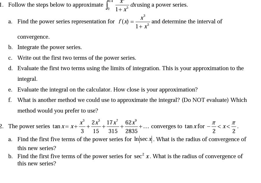 Radius of convergence power series calculator
