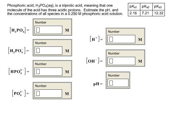 Solved Phosphoric Acid H3po4aq Is A Triprotic Acid
