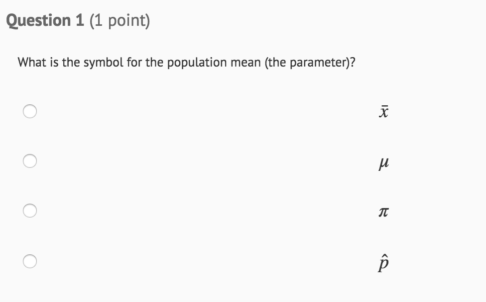 Solved Question 1 1 Point What Is The Symbol For The Po