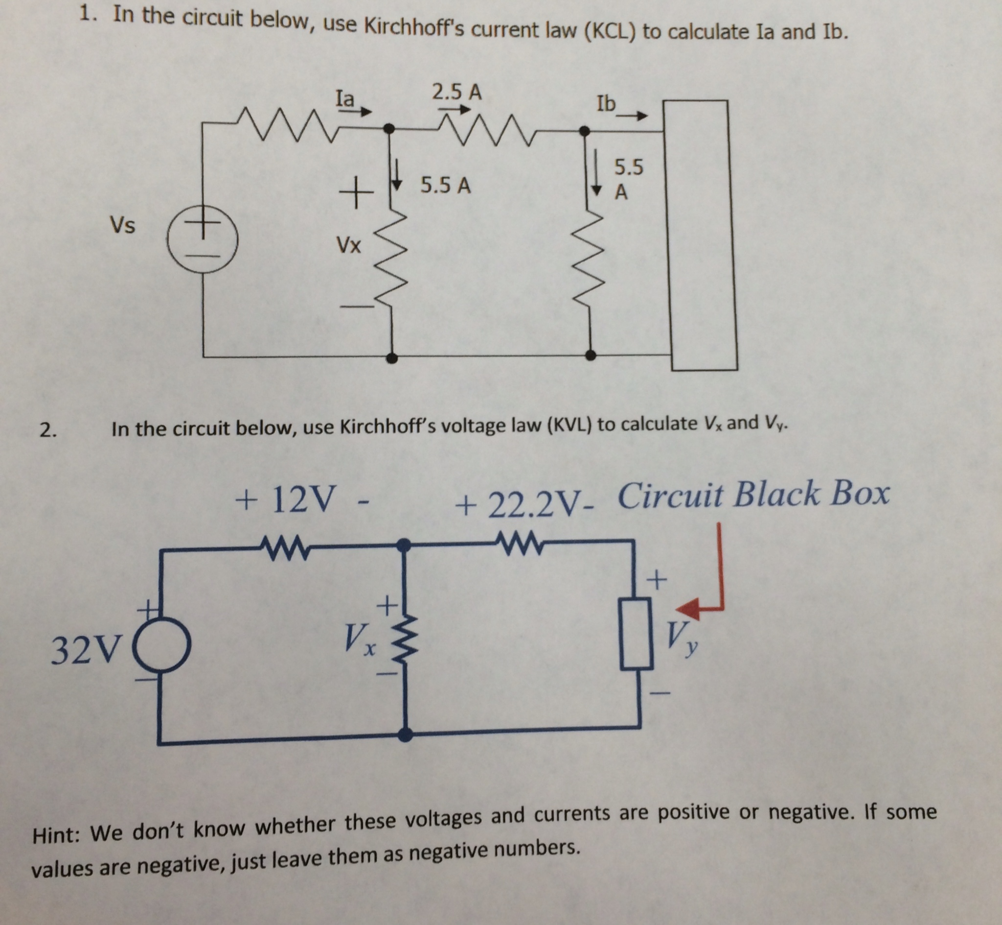 solved 1 in the circuit below use kirchhoff s current l rh chegg com