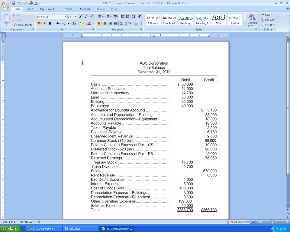 solved  directions  prepare the financial statements for a
