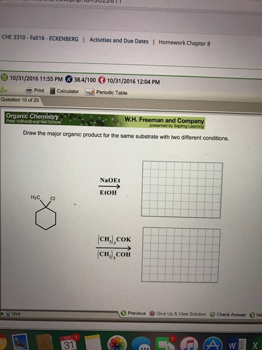 Solved: Draw The Major Organic Product For The Same Substr