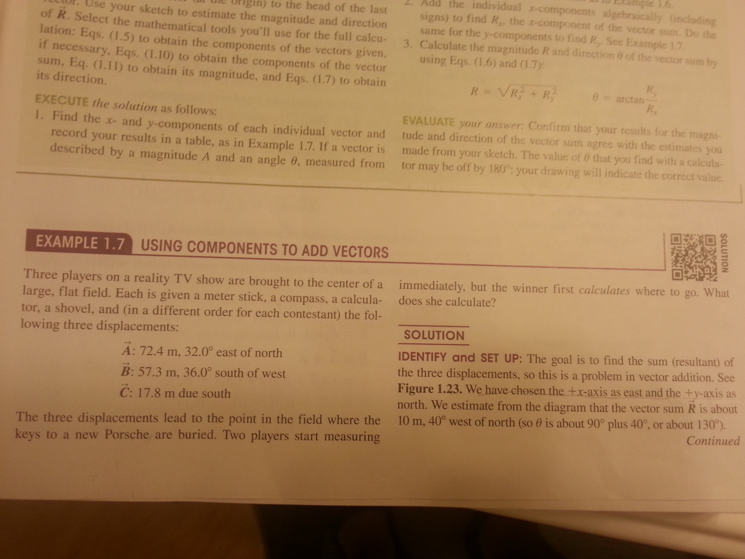 solved this is a example exercise on the physic textbook