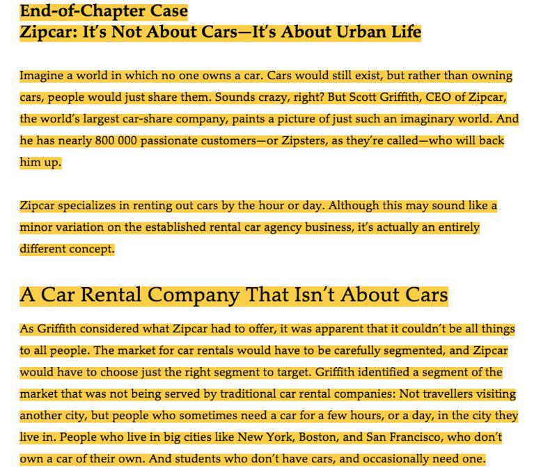 Solved: Read The Case And Answer This Question: Zipcar Was