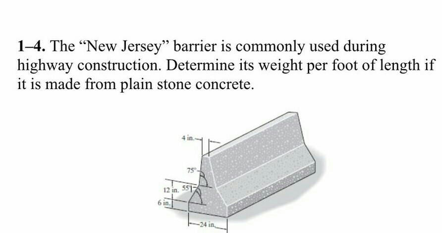 Jersey barrier weight per foot dandk