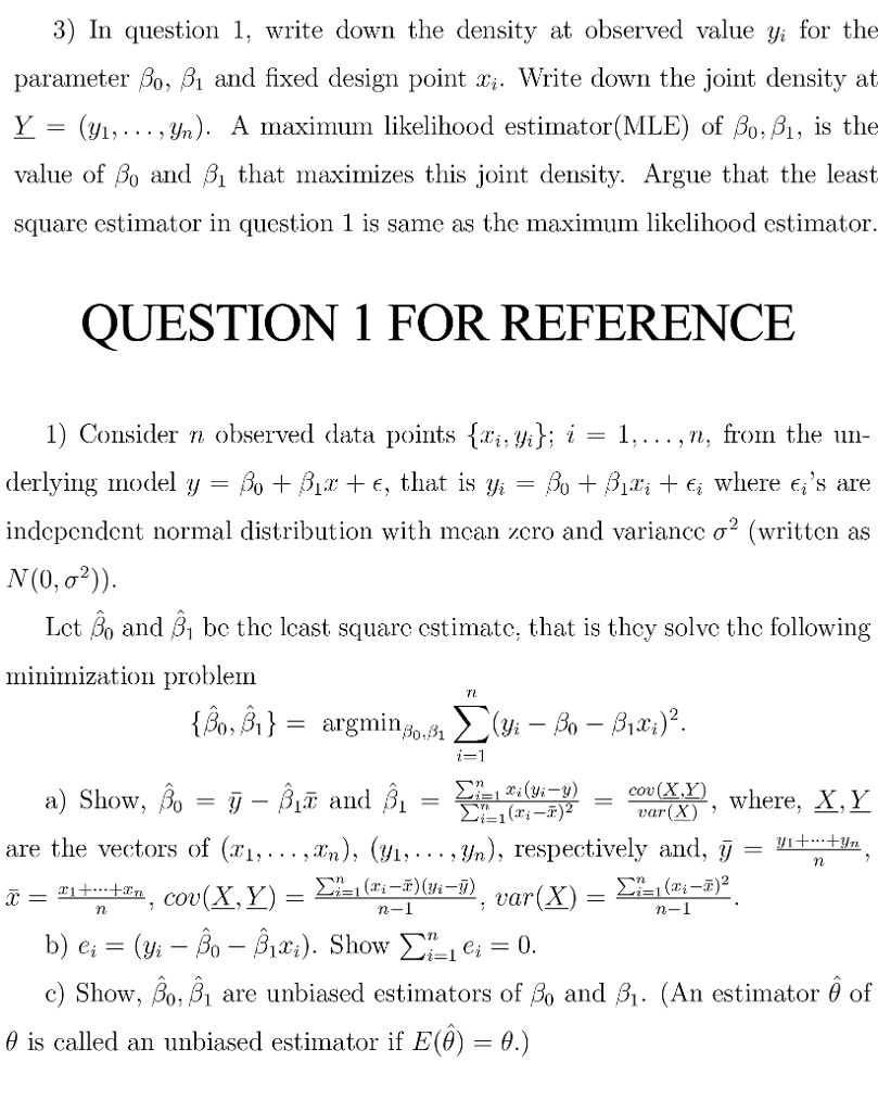 Statistics and probability archive february 05 2018 chegg 3 in question 1 write down the density at observed value yi for the fandeluxe Image collections