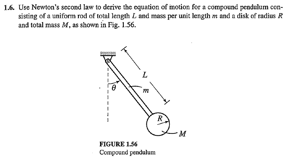 Solved: Use Newton's Second Law To Derive The Equation Of