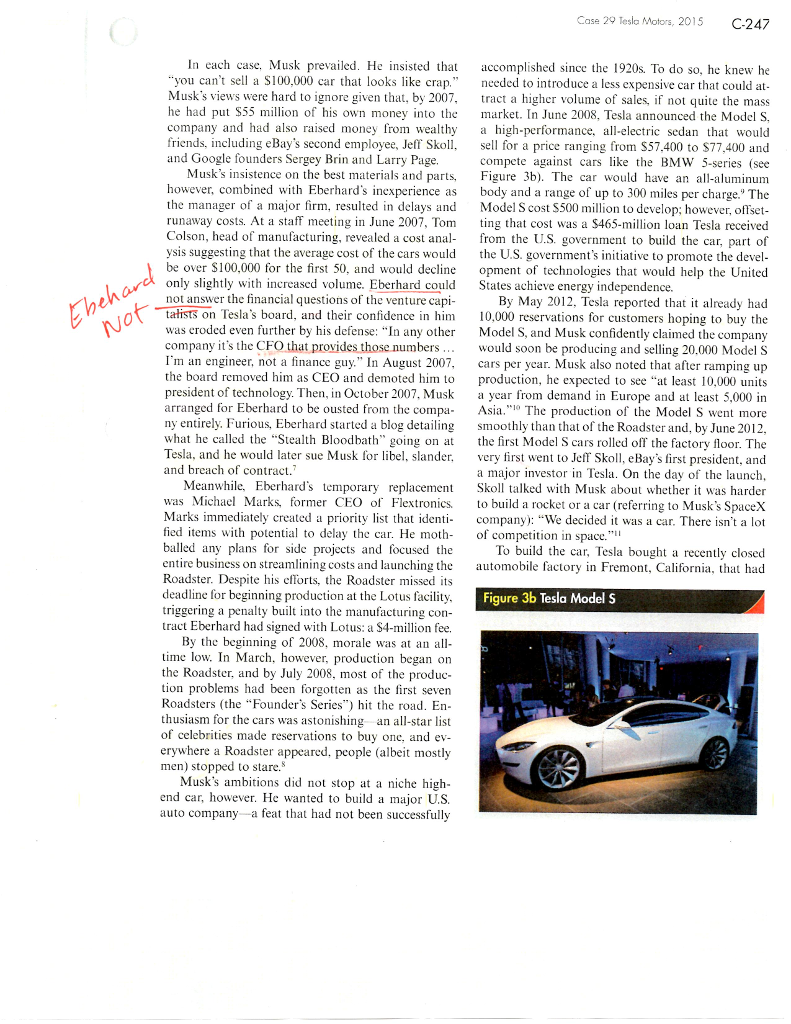Solved: 7 ) In Strategic Management Theory: Describe Tesla