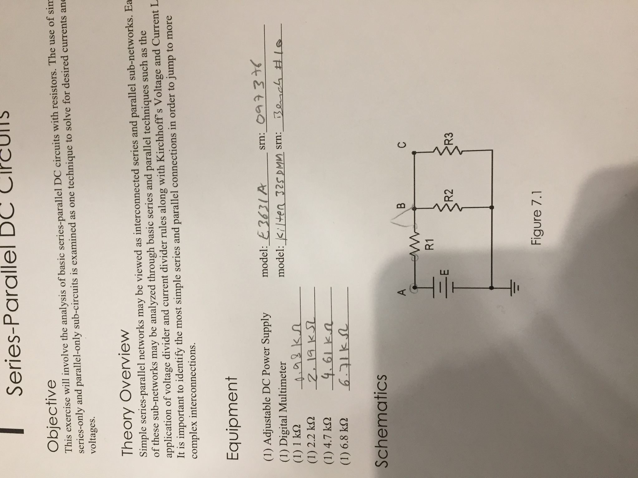 Solved Need Help Performing The Calculations On This Lab Basic Dc Theory Circuit Analysis All Of