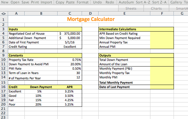 Down Payment Calculator >> Exp Ech02 H3 Mortgage Calculator 1 3 Project Des
