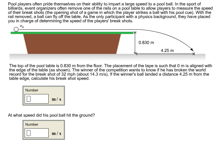 Solved Pool Players Often Pride Themselves On Their Abili - How do you measure a pool table