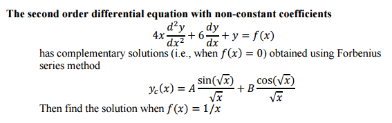 second order differential equations