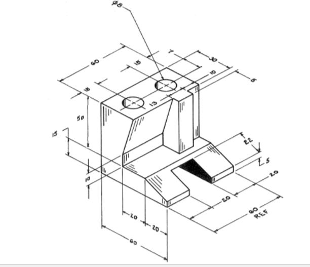 Create The 3d Part Shown Below All Dimensions Are