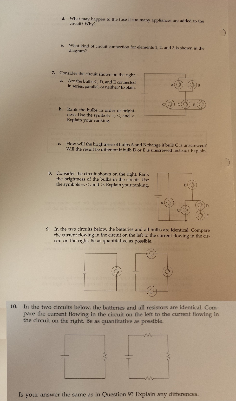 Solved I Dont Understand The Concepts Behind Currents In Electric Circuits Resistors Series And Parallel Free Physics Use Model For Current To Rank Res