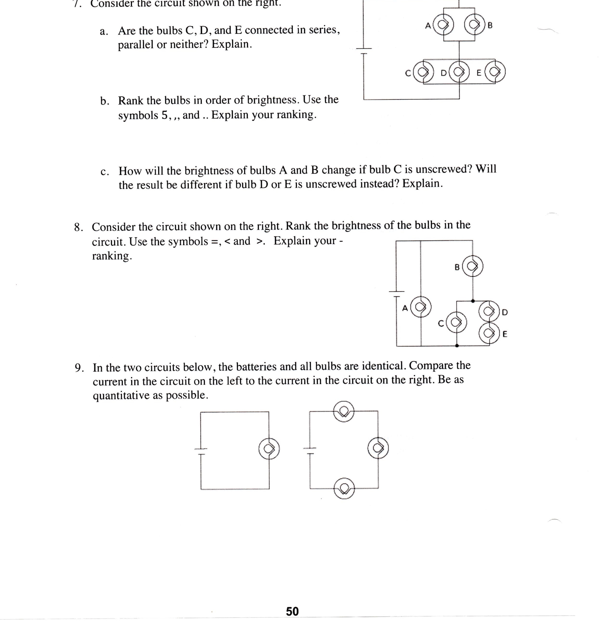 Solved: Consider The Circuit Shown On The Ngni. A. Are The ...