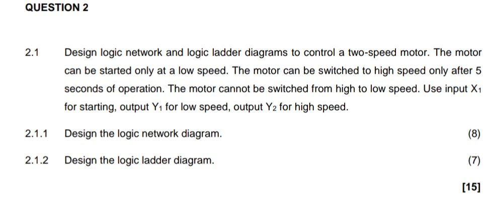 Solved Question 2 Design Logic Network And Logic Ladder D