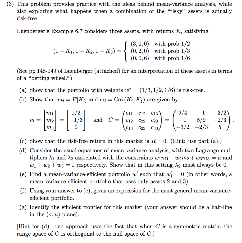 Variance example problem