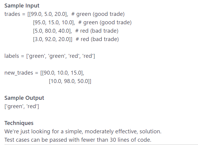 Classify New Trades Based On Their Similarity To O