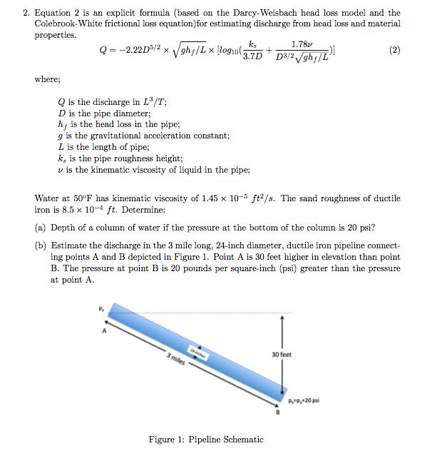 Solved: Equation 2 Is An Explicit Formula (based On The Da