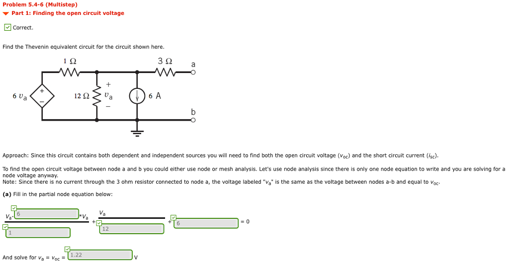 solved i need to find the thevenin equivalent voltage in rh chegg com