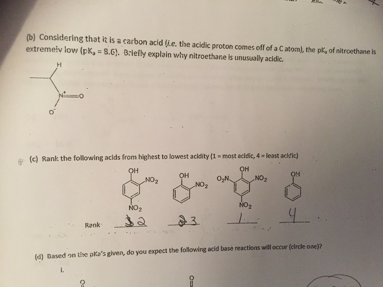 Solved: Considering That It Is A Carbon Acid (i e the Acid