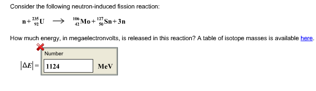 Solved Consider The Following Neutron Induced Fission Rea