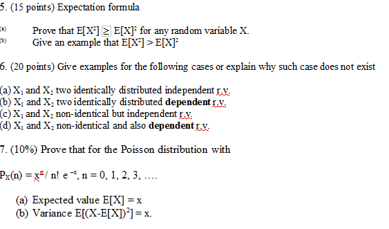 Solved Expectation Formula T Prove That Ex2 G Ex F