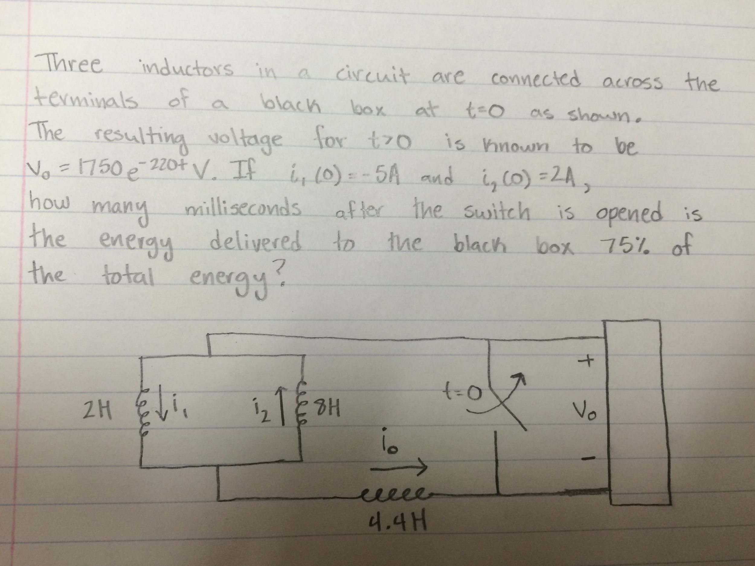 Solved: Three Inductors In A Circuit Are Connected Across ...
