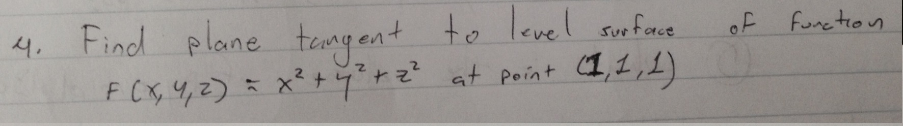 how to find the tangent plane to a surface