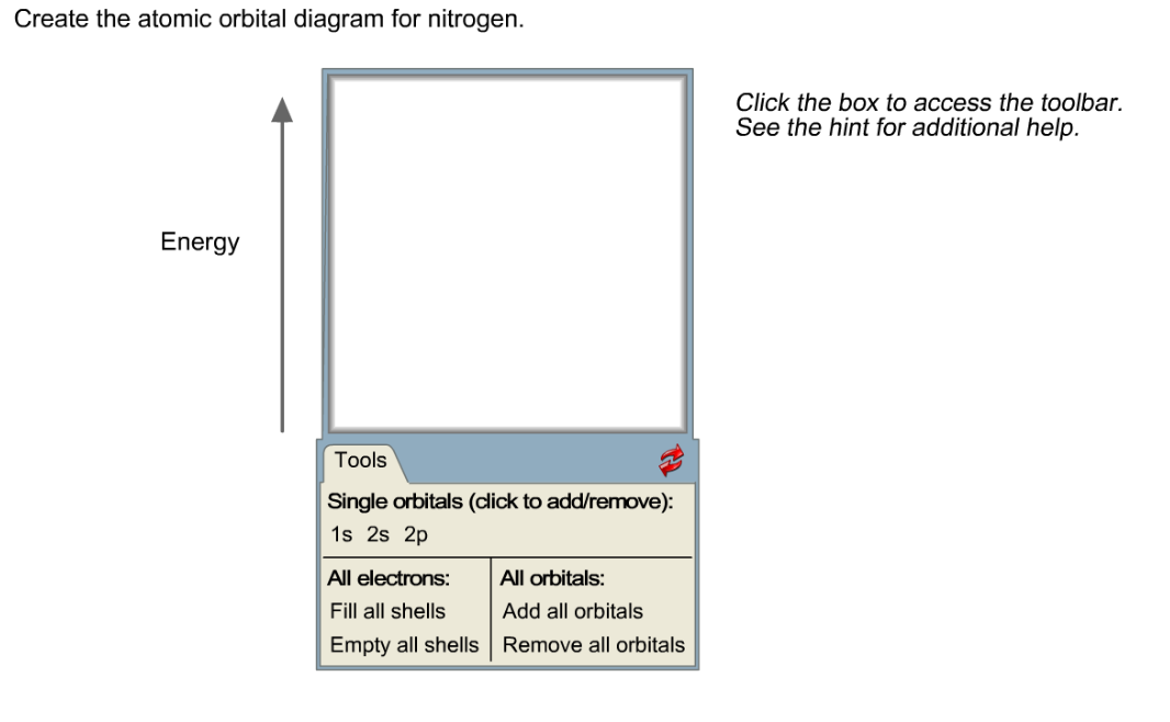 Solved Create The Atomic Orbital Diagram For Nitrogen Cl