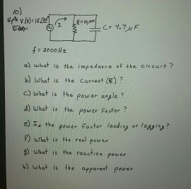 What is the impedance of the circuit ? What is th