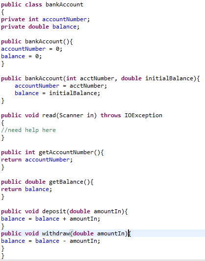 Solved: Bank Program Java Here Is My Assignment  And Here
