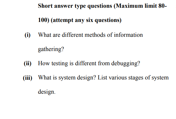 Solved: Short Answer Type Questions (Maximum Limit 80- 100 ...