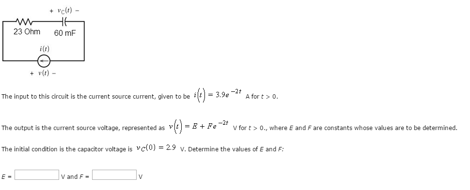 solved the input to this circuit is the current source cuquestion the input to this circuit is the current source current, given to be a for t \u003e 0 the outpu