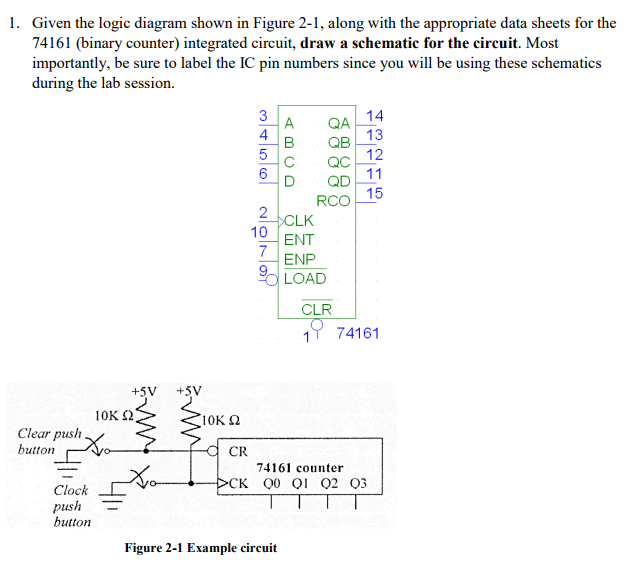 Solved: 1. Given The Logic Diagram Shown In Figure 2-1, Al ...