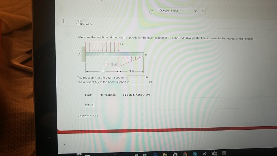 Mechanical engineering archive october 22 2017 chegg question 1 of 3 1000 points determine the reactions at the beam supports for fandeluxe Gallery