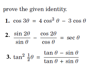 Solved Prove The Given Identity 1 Cos 3 Theta 4 Cos 3 Chegg Com