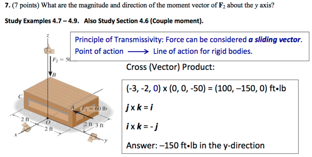 Solved: What Are The Magnitude And Direction Of The Moment