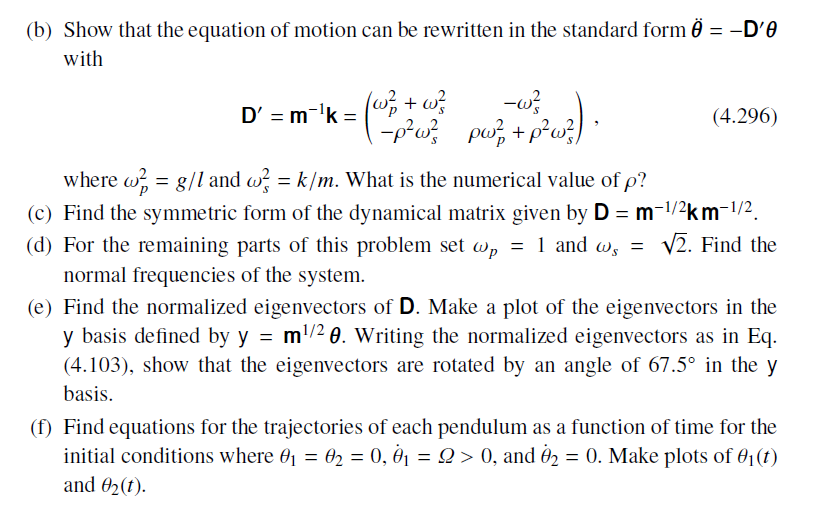 Show That The Equation Of Motion Can Be Rewritten Chegg
