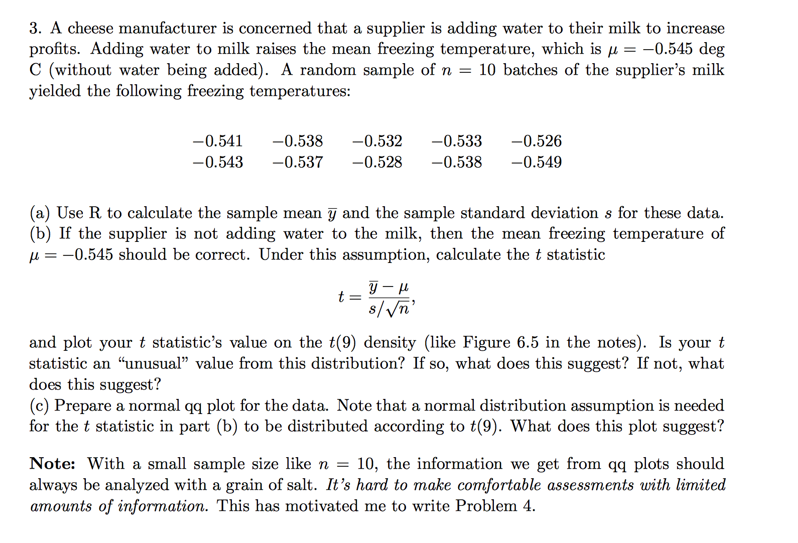 Calculate Standard Deviations A Cheese Manufacturer Is Concerned That A  Supplier Is Adding Water To Their