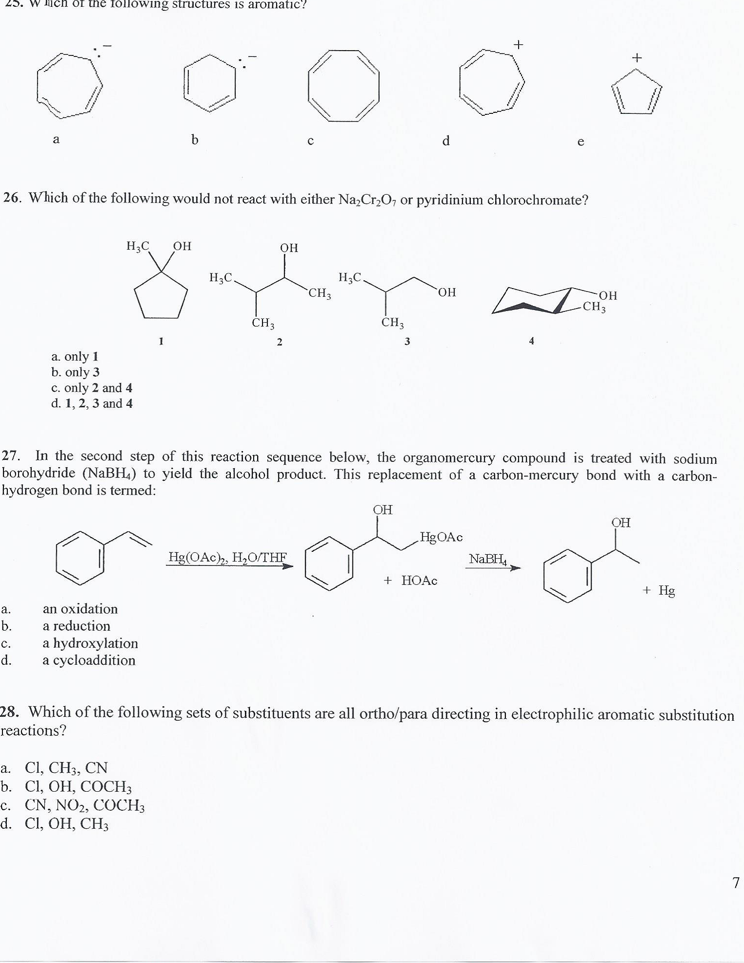 Solved: Which Of The Following Structures Is Aromatic? 26