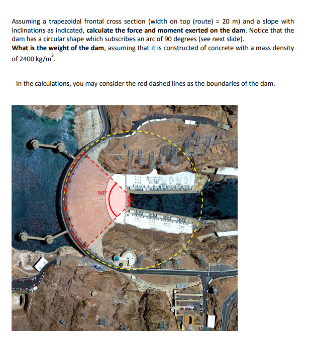Solved: Hoover Dam The Hoover Dam, Is A Concrete Arch-grav