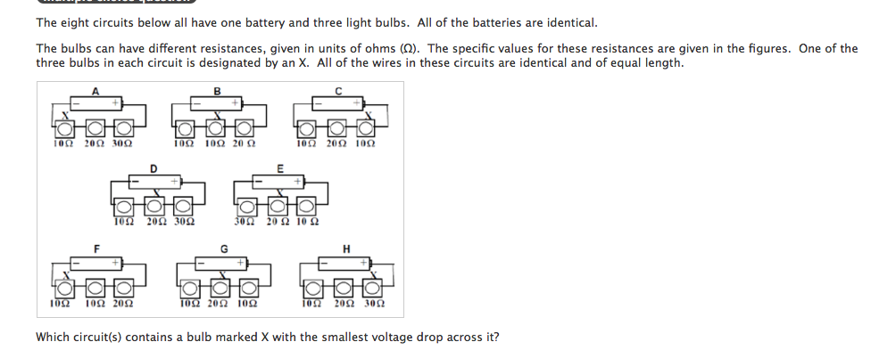 solved the eight circuits below all have one battery and rh chegg com