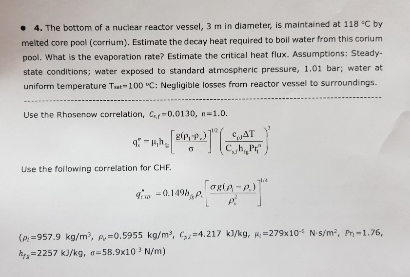 Solved:   4  The Bottom Of A Nuclear Reactor Vessel, 3 M I