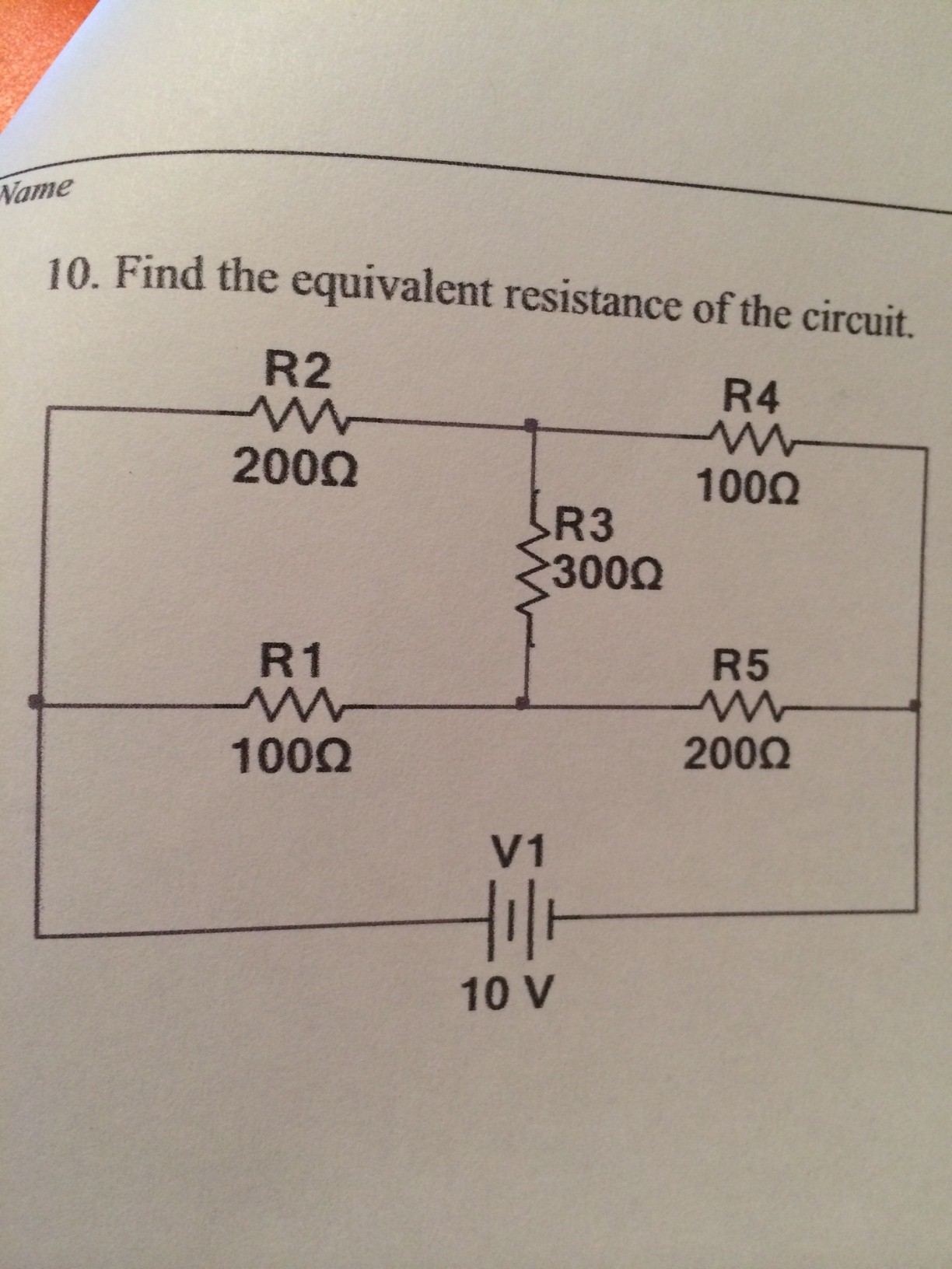 Find The Equivalent Resistance Rab In The Circuit Cheggcom