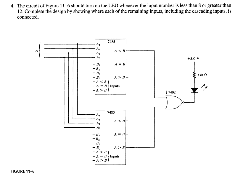 Solved The Circuit Of Figure 11 6 Should Turn On The Led