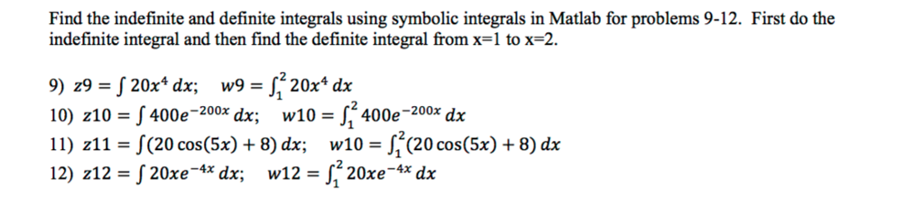 solved find the indefinite and definite integrals using s