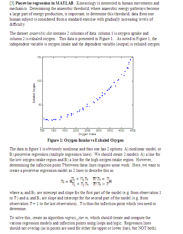 3] Piecewise Regression In MATLAB  Kinesiology Is    | Chegg com